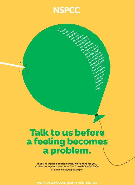 An example of one of the NSPCC posters.