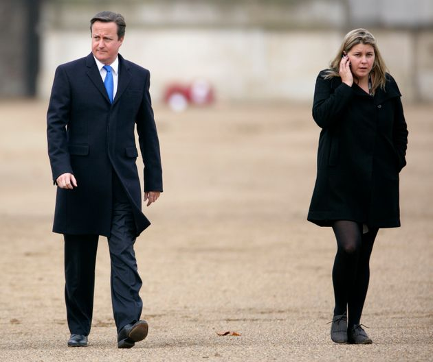 David Cameron and Liz Sugg, the former PM's Head of Planning and Operations, pictured together in 2011....
