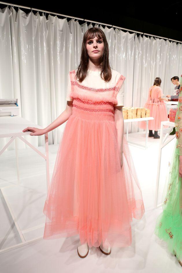 The Molly Goddard presentation during London Fashion Week Spring/Summer