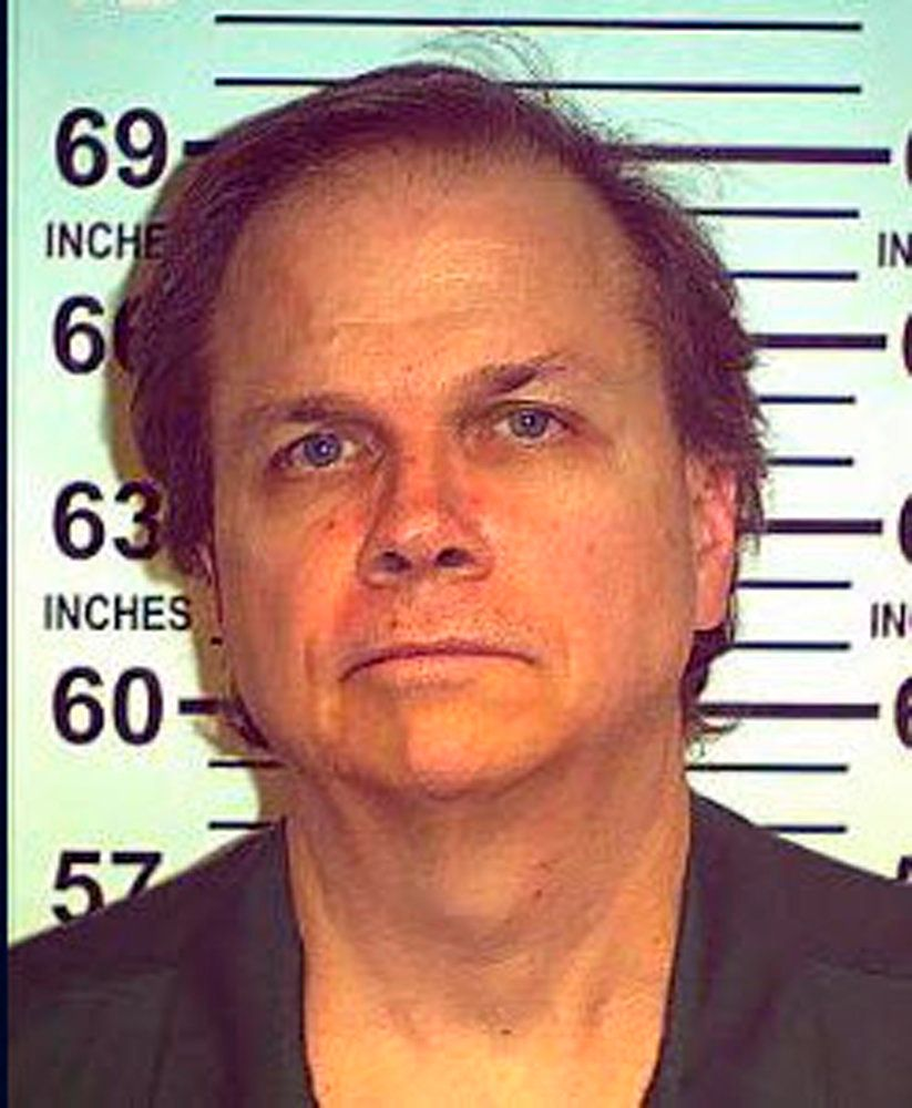Mark David Chapman, the man who fatally shot former Beatle John Lennon in 1980, is seen in 2012. On Monday he was denied paro