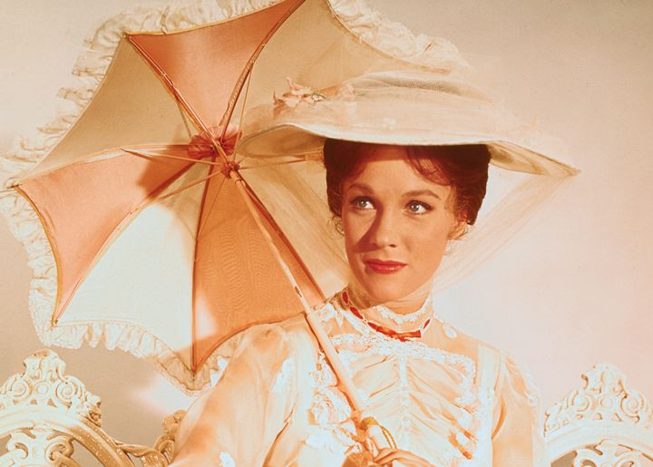 Julie Andrews as Mary Poppins in the 1964 Disney film.