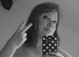 Cancer Survivor Responds To 'Black And White' Facebook Challenge With Mastectomy Scar Selfie