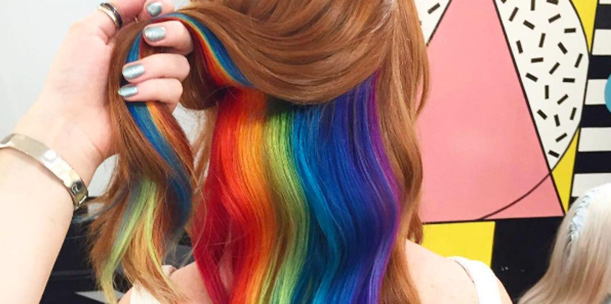 Hidden Rainbow Hair: The Latest Trend From London's 'Not ...