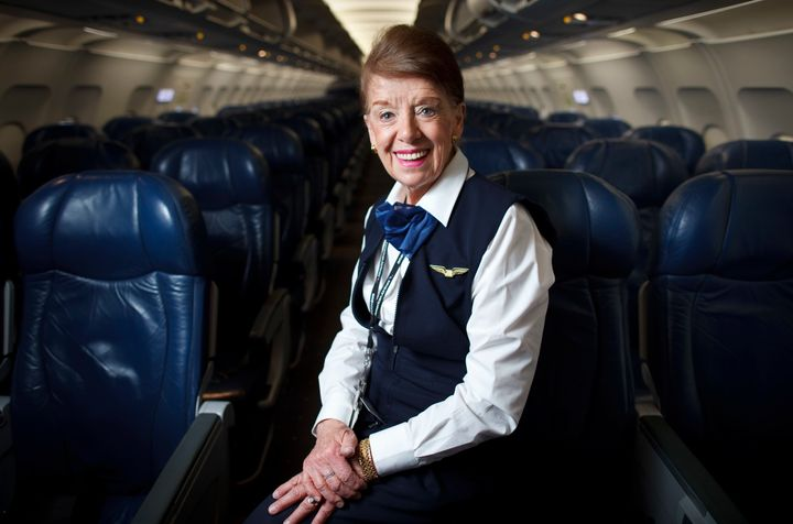 Bette Burke-Nash is believed to be the oldest flight attendant in America.