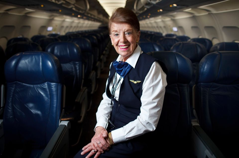 Bette Burke-Nash is believed to be the oldest flight attendant in