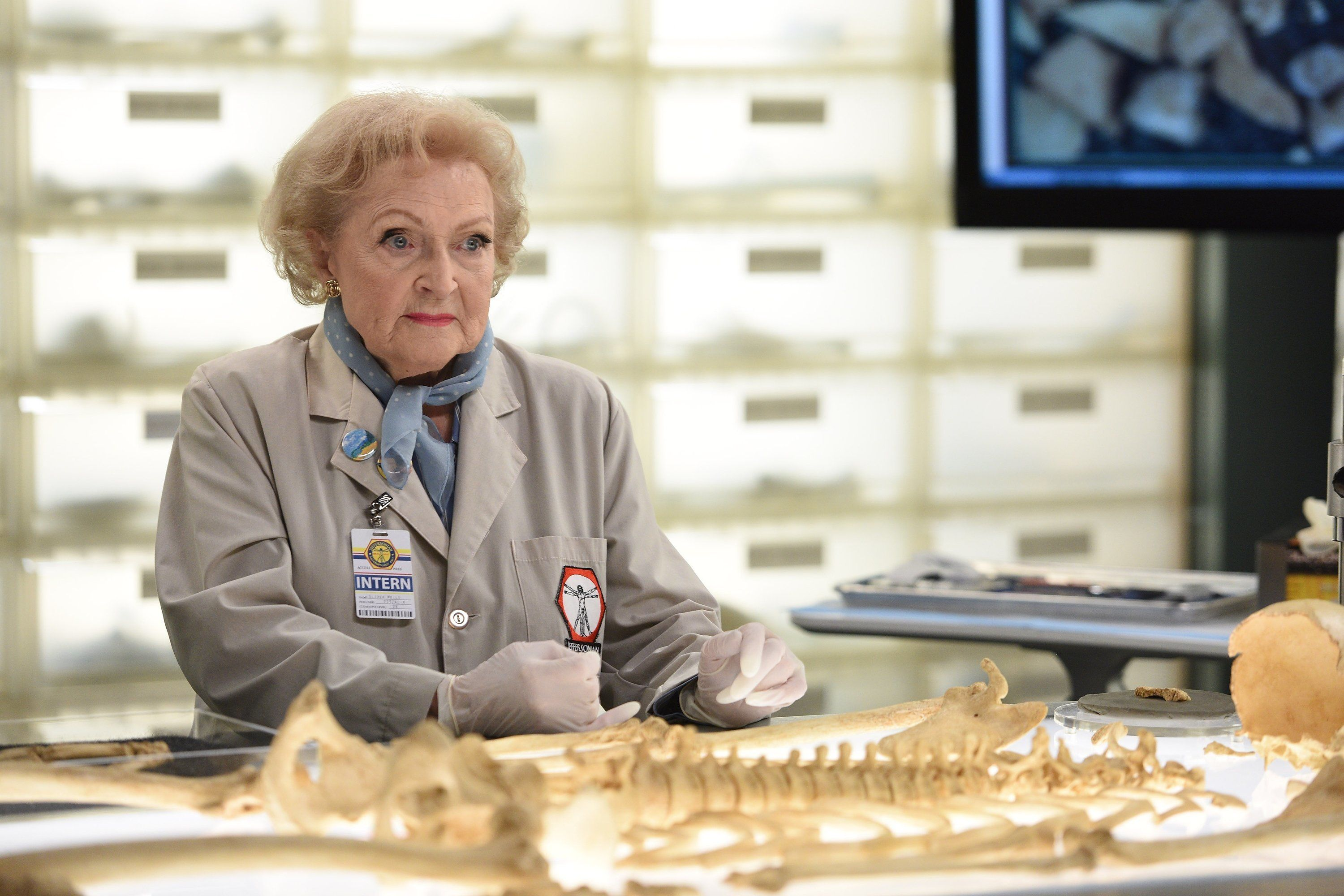 At 94, Betty White -- seen here filming an episode of
