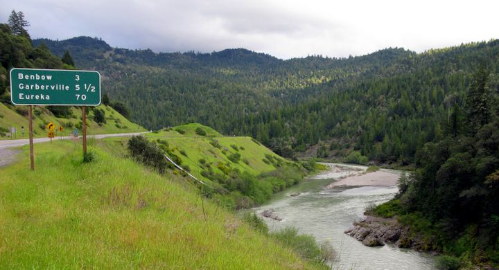 The Eel River in Northern California.