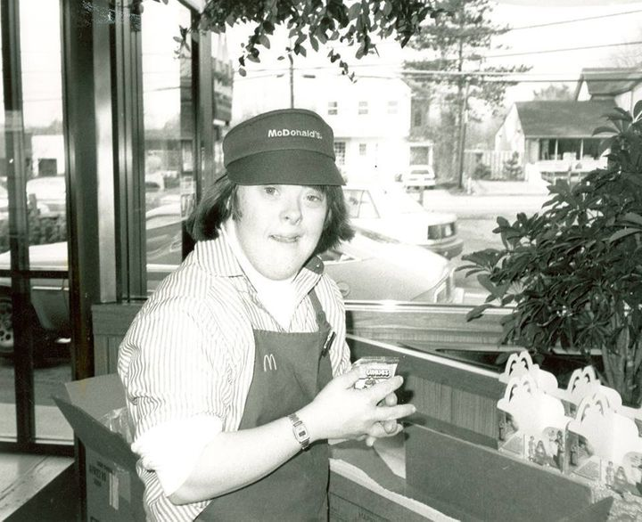 David working at McDonald's in the 1980s.