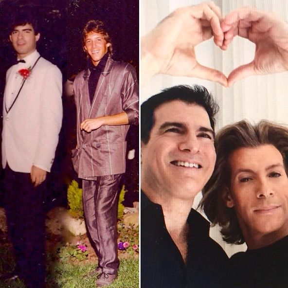 """We met each other in 1984 at Mark's high school prom and we have been together ever since. We got married when marriage beca"
