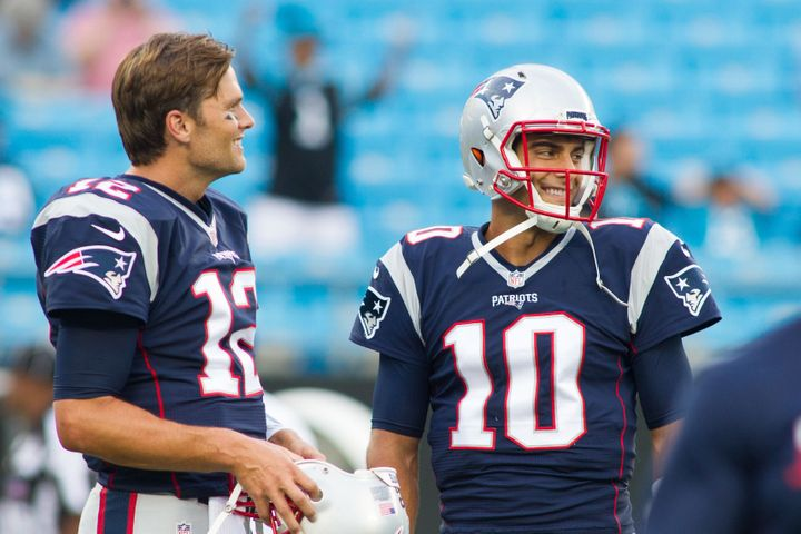 With Tom Brady suspended four games, the onus falls on 24-year-old quarterback Jimmy Garoppolo to lead the Patriots' offense.