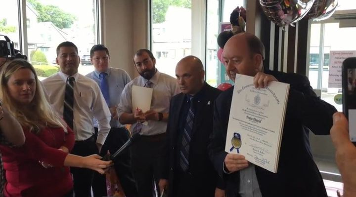 David received a proclamation from the Massachusetts House of Representatives.