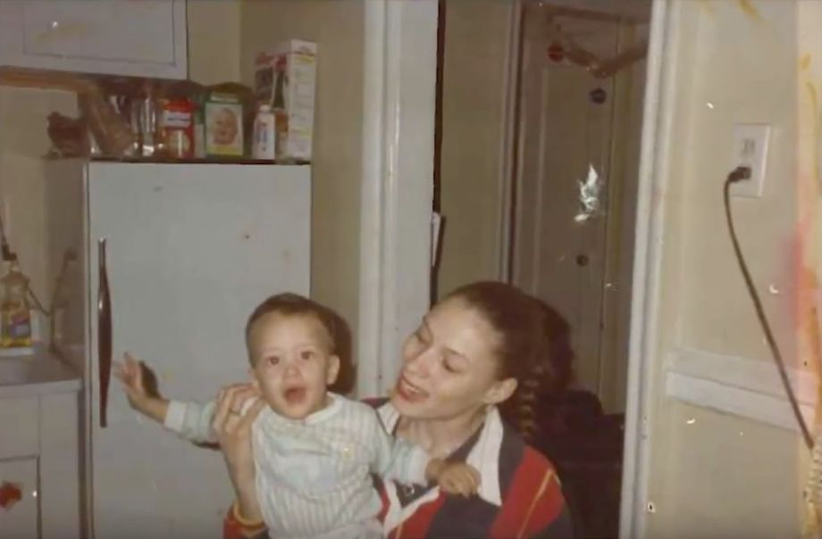Ramsey Orta as a baby, being held by his mother, Emily Mercado.