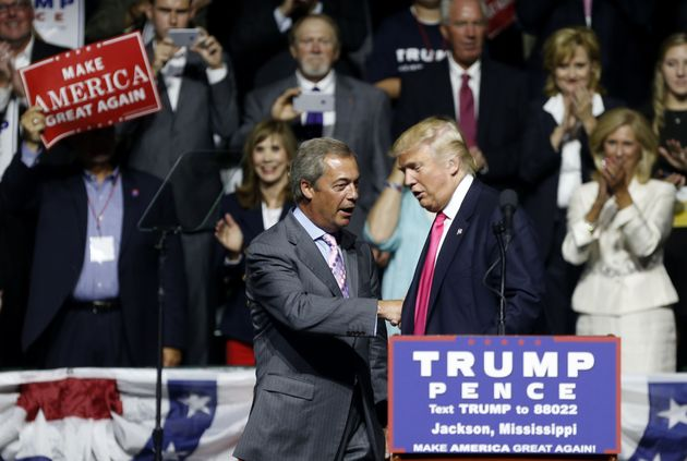 Farage gets hero's welcome at Trump