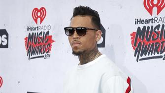 Recording artist Chris Brown poses at the 2016 iHeartRadio Music Awards in Inglewood, California, April 3, 2016. REUTERS/Danny Moloshok