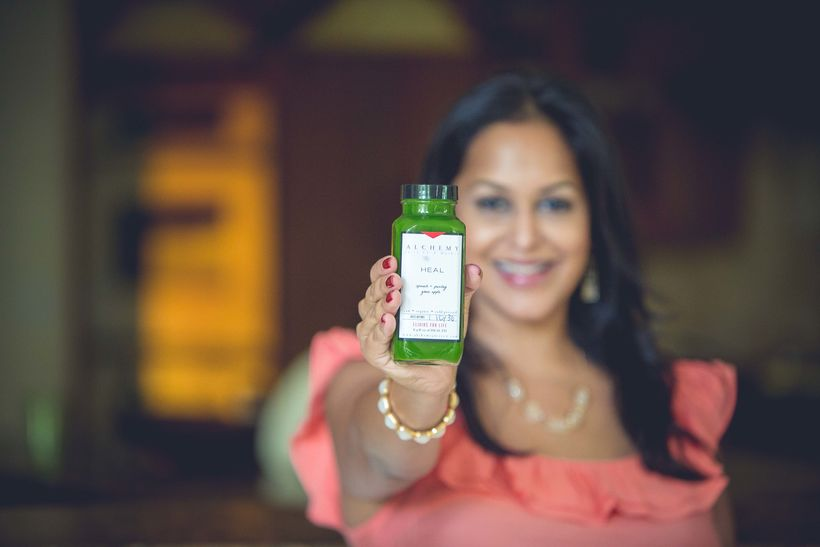 Shivani loves her green juice and turmeric!