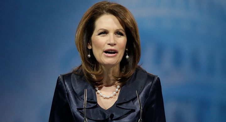 Former Rep. Michele Bachmann (R-Minn.) says God 'raised up' Donald Trump to win the Republican presidential nomination.