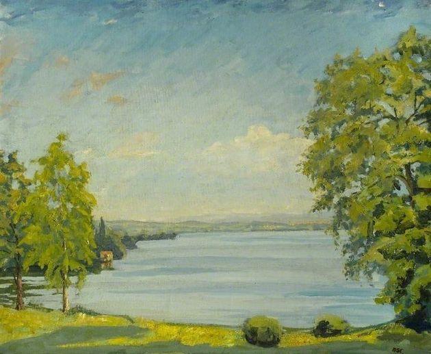 View of Lake Geneva, Switzerland (C.1937)Winston Spencer Churchill (1874–1965)Chequers