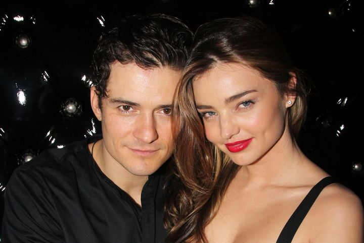 "Orlando Bloom and then-wife Miranda Kerr attend the after party for the Broadway opening night of ""Shakespeare's Romeo And Ju"