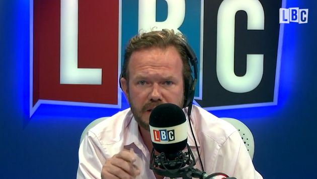 LBC host James O'Brien was stunned by a caller who broke down in tears recalling the racial abuse...