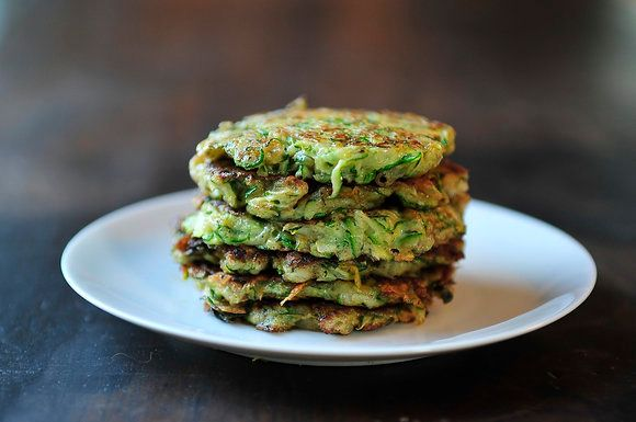 """<strong>Get the <a href=""""http://food52.com/recipes/228-zucchini-pancakes"""" target=""""_blank"""">Zucchini Pancakes</a> recipe by Sar"""