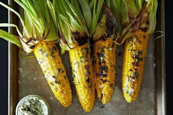 """<strong>Get the<a href=""""http://food52.com/recipes/21960-grilled-corn-with-basil-butter"""" target=""""_blank""""> Grilled Corn With Ba"""