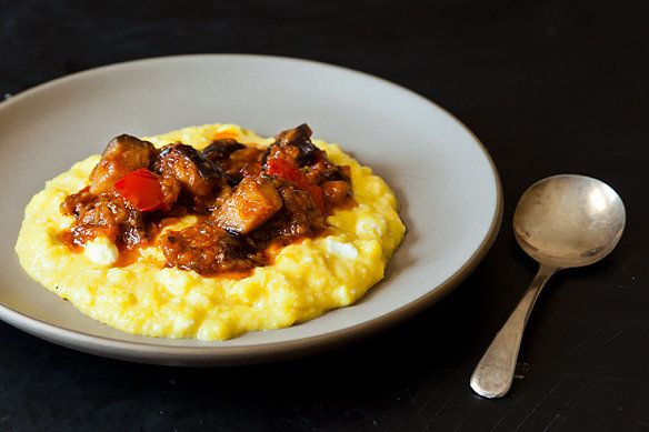 """<strong>Get <a href=""""http://food52.com/recipes/18519-yotam-ottolenghi-s-sweet-corn-polenta-with-eggplant-sauce"""" target=""""_blan"""