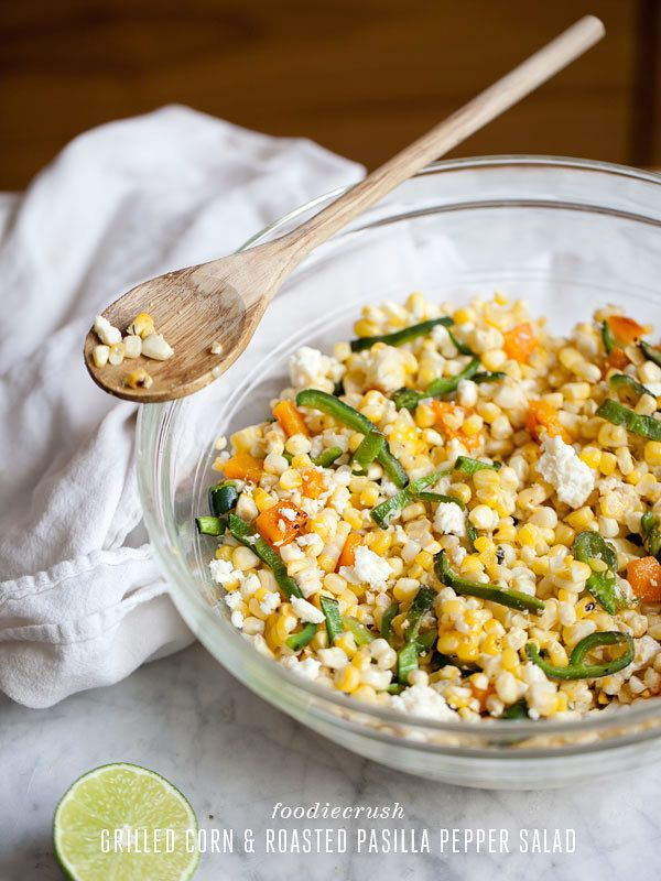 """<strong>Get the <a href=""""http://www.foodiecrush.com/2012/08/grilled-corn-pasilla-pepper-salad-recipe/"""" target=""""_blank"""">Grille"""