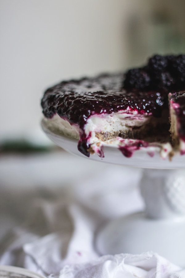 """<strong>Get the <a href=""""http://www.adventures-in-cooking.com/2013/07/frozen-blackberry-honey-goat-cheesecake.html"""" target=""""_"""