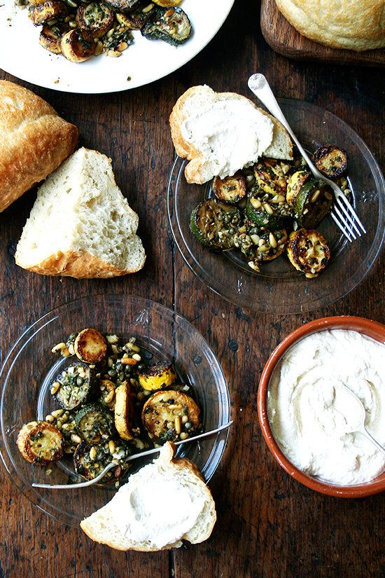 """<strong>Get the <a href=""""http://www.alexandracooks.com/2014/07/23/sauteed-zucchini-with-mint-basil-pine-nuts/"""" target=""""_blank"""