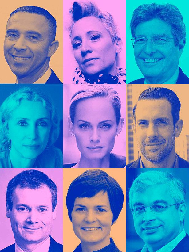Global Change Awards judges from top left: David Roberts: founder of Exponential Leadership, chairman...