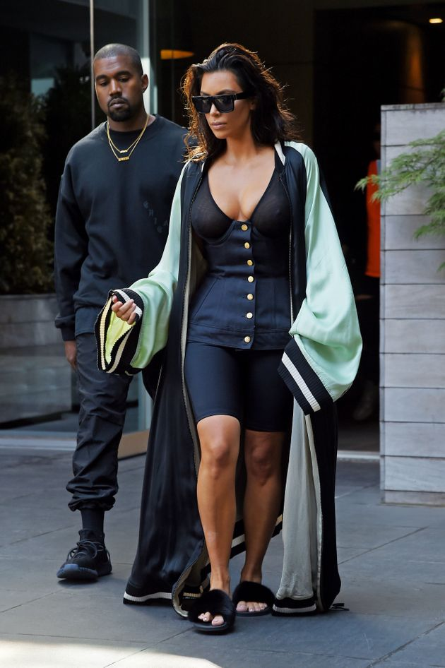 Kim Kardashian's Latest Sheer Outfit Might Be Her Most Bizarre