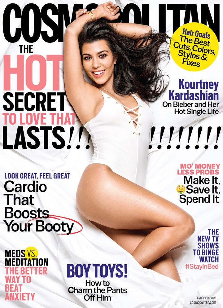 Kourtney Kardashian on the October 2016 cover of Cosmopolitan.