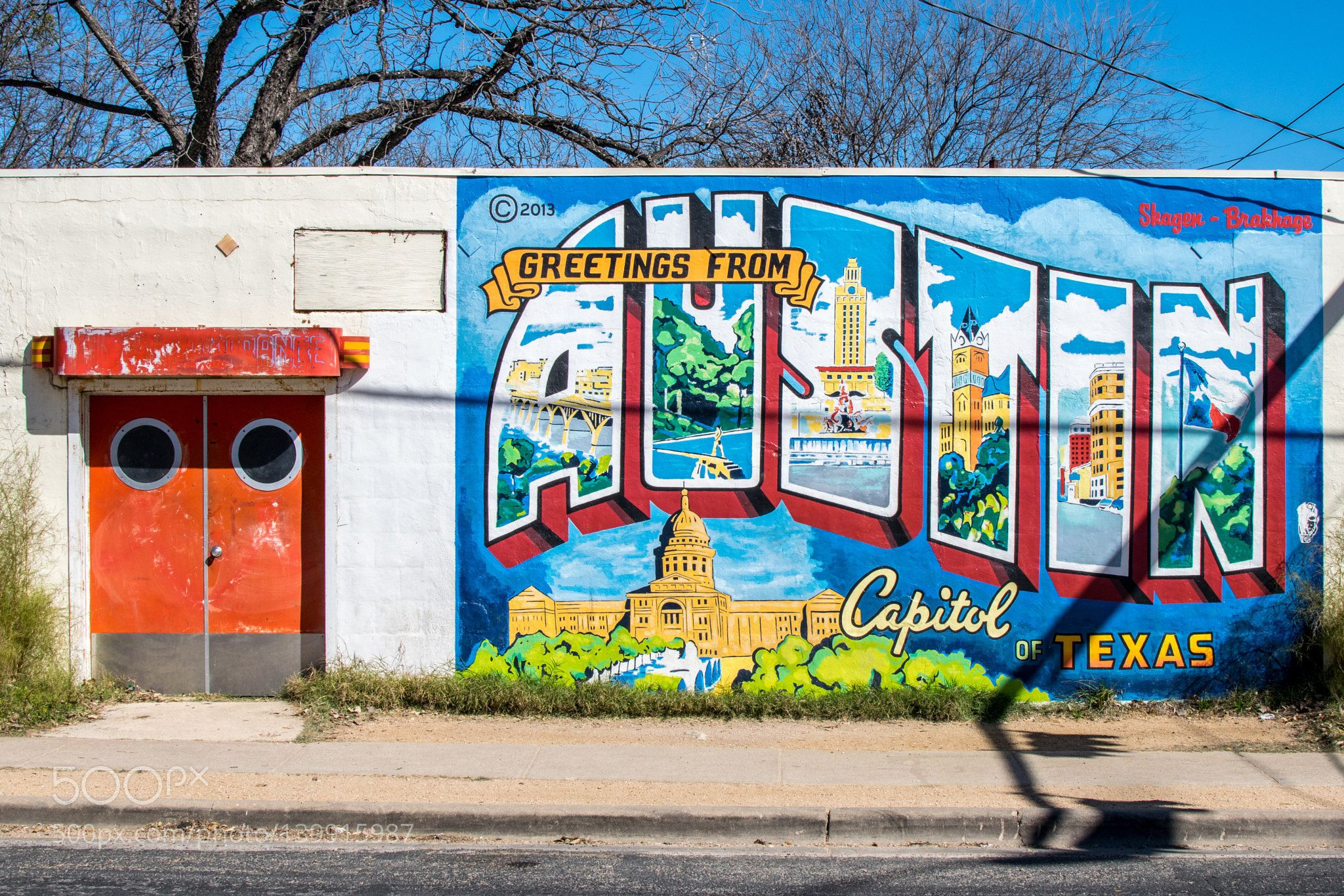 This is the famous Greetings from Austin sign in Austin texas!