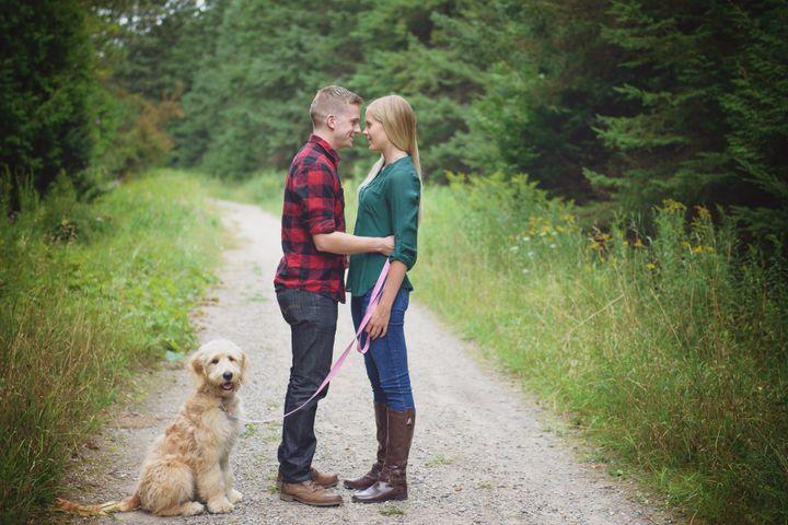 Jennifer Storrar, 24, and her fiancé Troy Reddington, 25.