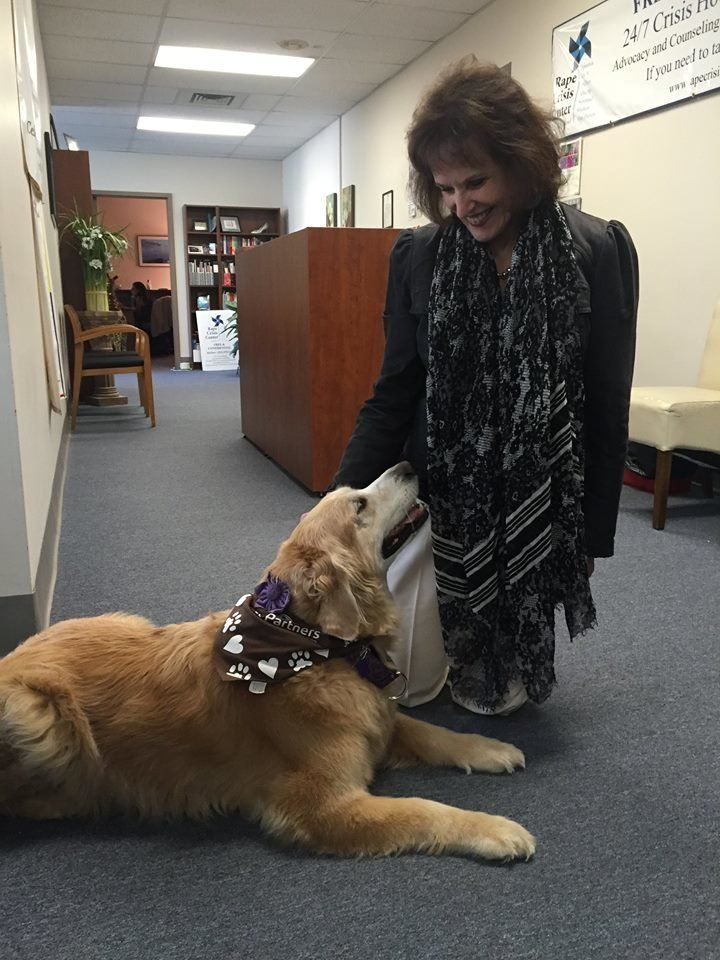 Lily with Peggy Pisano, her handler.