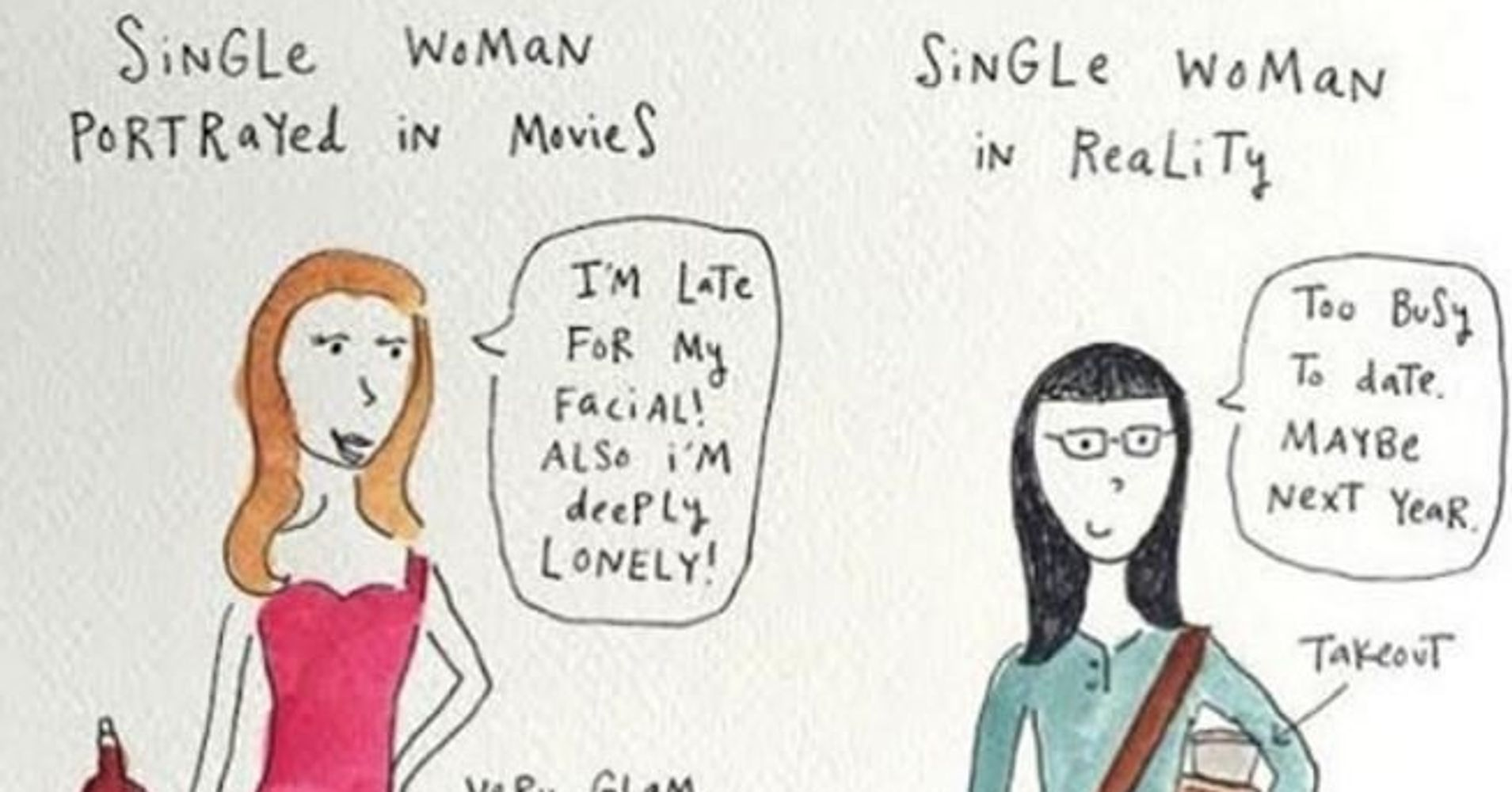 Comics That Perfectly Sum Up Life As A Modern Single Woman - Illustrator perfectly sums up what its like to be a woman in funny comics