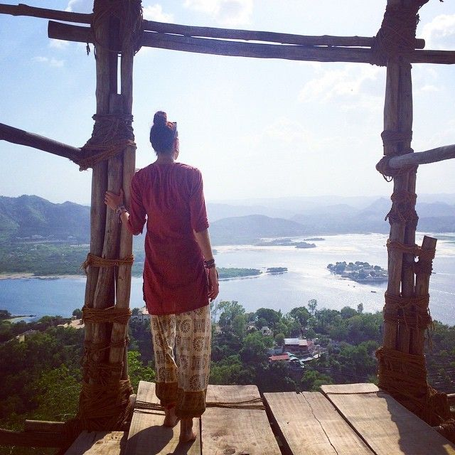 Overlooking Udaipur on my month-long trip to India