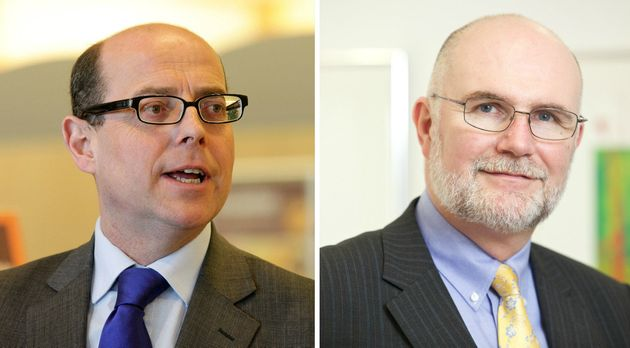 Nick Robinson, left, skewered Dr Mark Porter, right, over support levels for junior