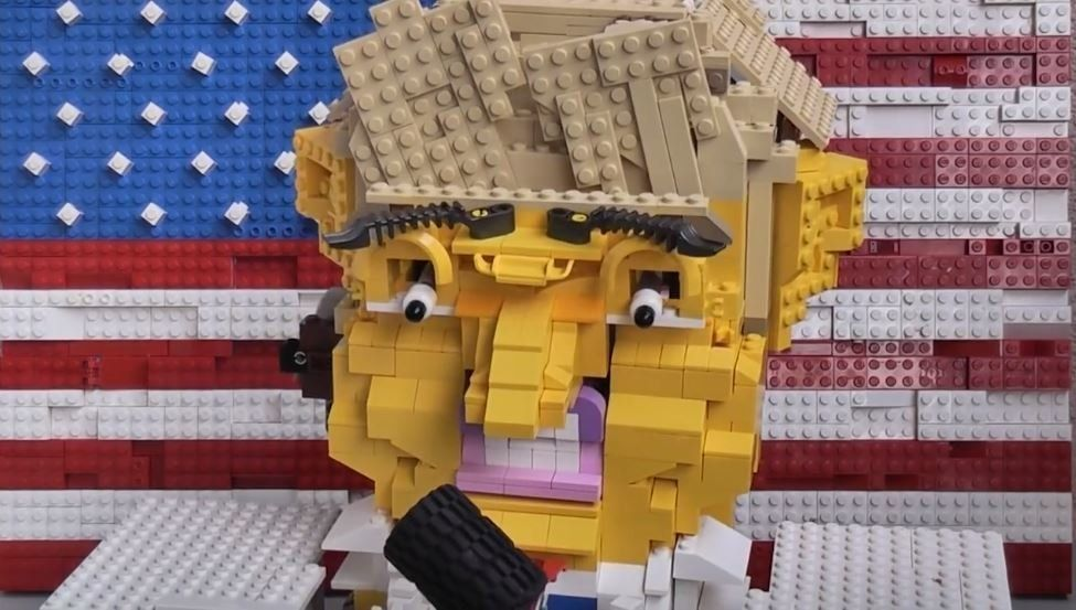 This Donald Trump Robot Made Out Of Lego Will Haunt Your