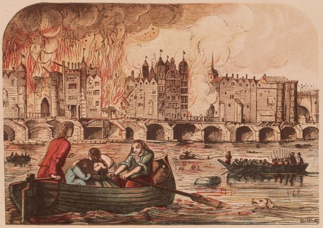 Great Fire Of London Livestream Video Of Replica City Burning On The