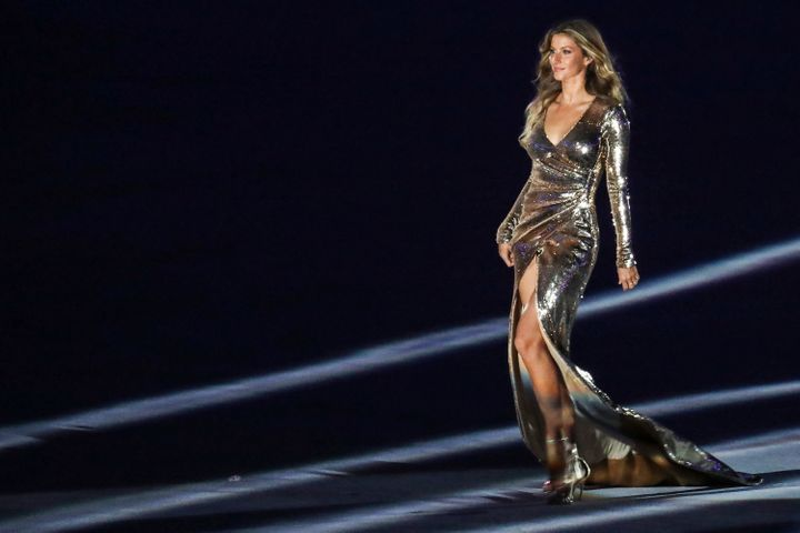 Bundchen in her stunning Opening Ceremony walk for the 2016 Summer Olympic games.