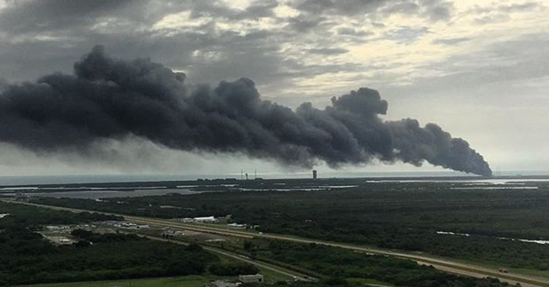 Explosion At SpaceX Launch Site At Cape Canaveral: Media ...