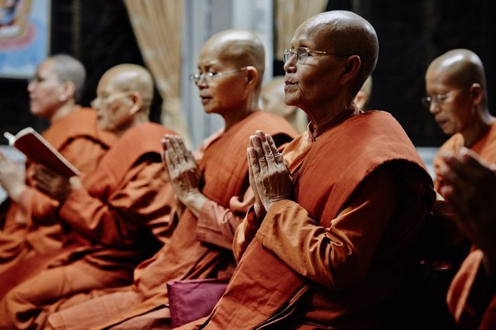 Some of the monks at the allfemale Songdhammakalyani Monastery Banned from becoming fully ordained they want to regain the recognition that women had within the religion during Buddhas time.