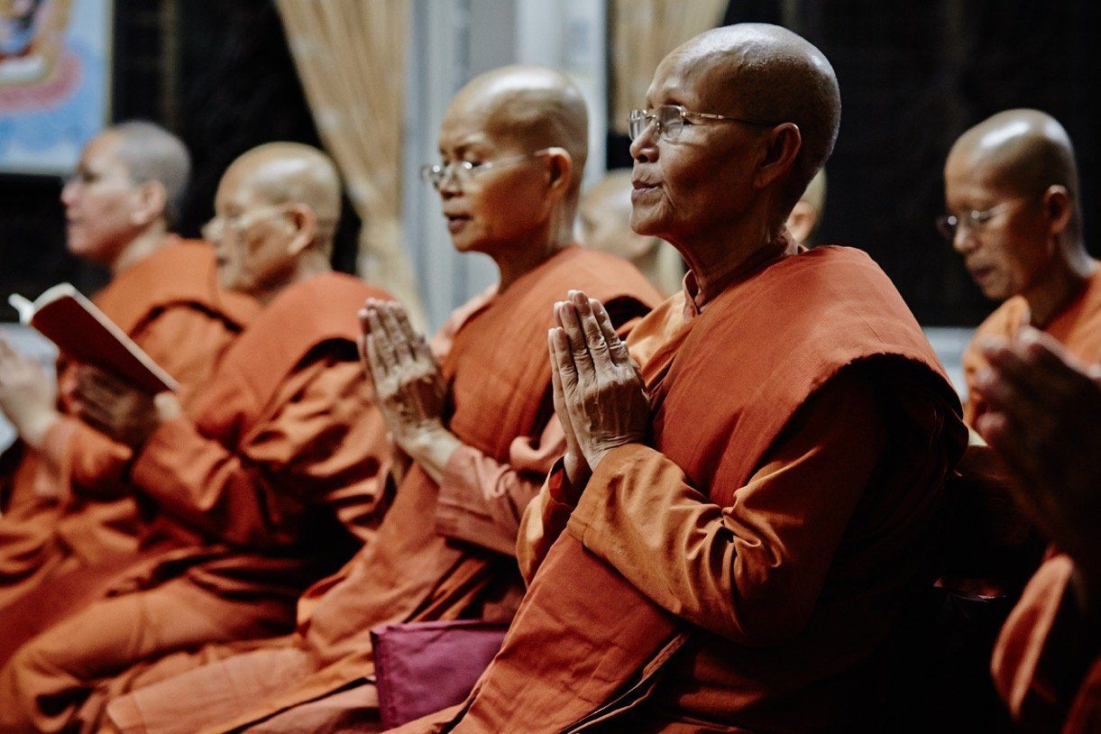 Some of the monks at the allfemale Songdhammakalyani Monastery Banned from becoming fully ordained they want to regain the re