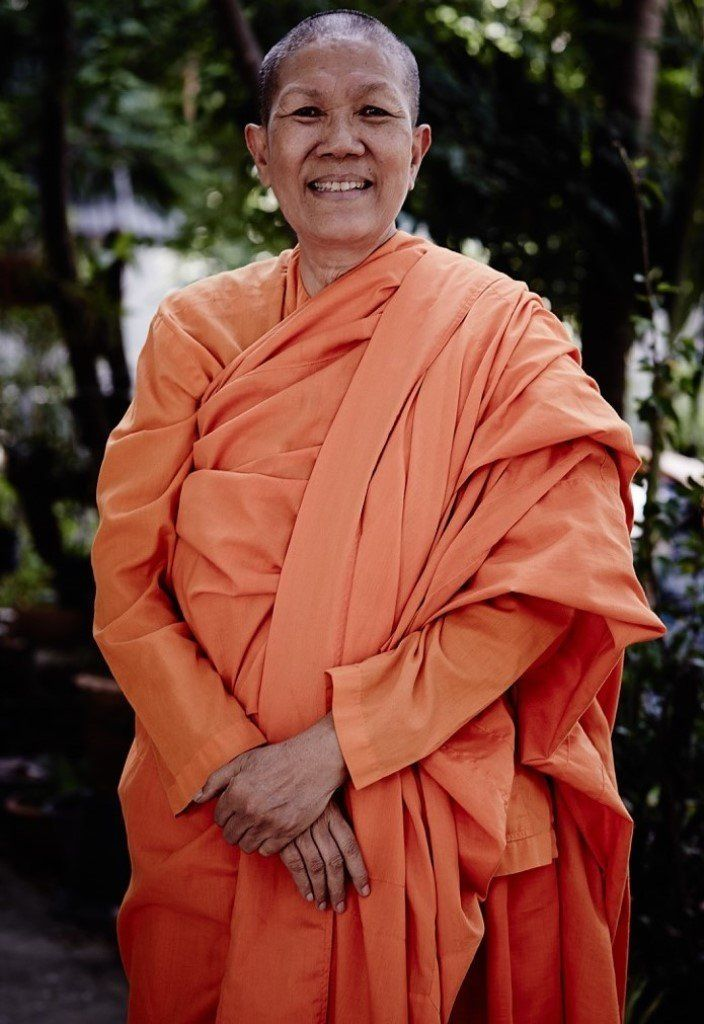 The Venerable Dhammananda the first Thai bhikkhuni to be fully ordained in the Theravada tradition says she sees people becom