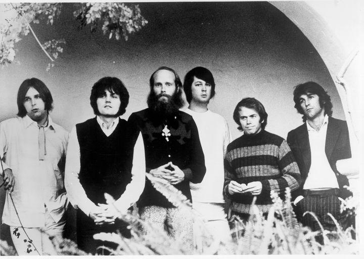 The Beach Boys, Carl Wilson, Bruce Johnston, Mike Love, Brian Wilson, Al Jardine and Dennis Wilson, circa 1972.
