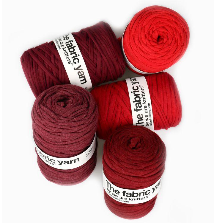 "<a href=""http://www.weareknitters.com/knitting-needles-balls/fabric-yarn"" target=""_blank"">The Fabric Yarn, $17 for a 2-pack</a>"