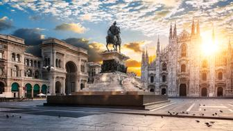Duomo at sunrise, Milan, italy Europe.