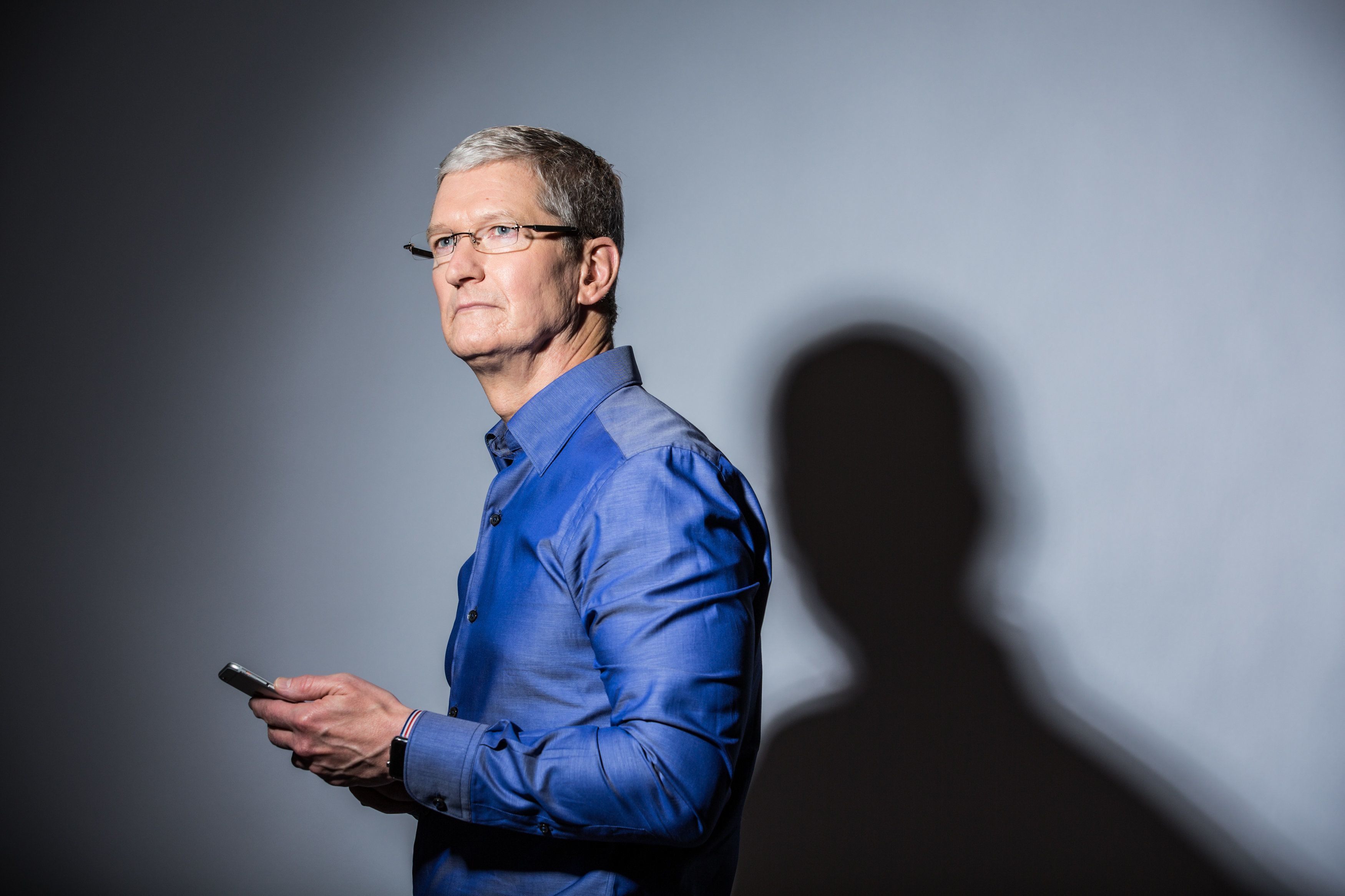 CUPERTINO, CA - JULY 28: Apple CEO Tim Cook poses for a portrait at Apple's global headquarters in Cupertino, California on July 28, 2016. Cook has been CEO for five years; he took over for Steve Jobs shortly before Jobs' death. (Photo by Andrew Burton/For The Washington Post via Getty Images)