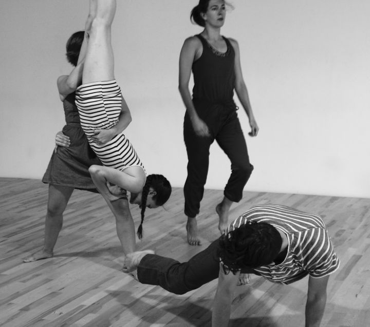 """In Circadia"" is a modern dance piece with a lot of partnering, as well as floor work."